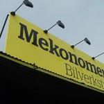 En Mekonomen bilverkstad i Uppsala